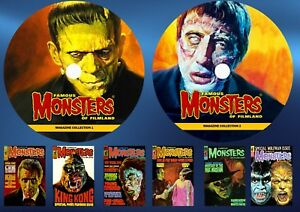 Famous-Monsters-Of-Filmland-Warren-Mags-On-Two-DVD-Rom-039-s