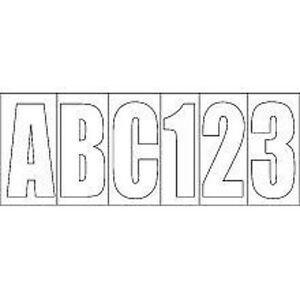 3 1 4quot white vinyl letter and number kit for boats 4 of for 1 4 inch white vinyl letters