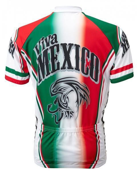 World Jerseys Viva Mexico  Herren Cycling Jersey Grün/ROT Bike Medium Bike Grün/ROT 7ca969