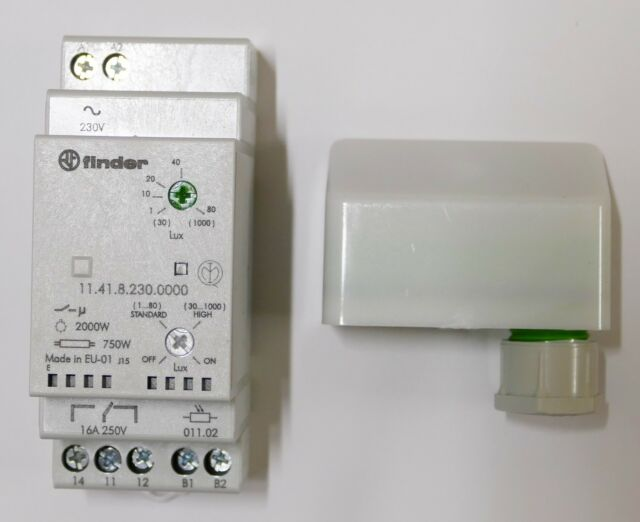 Finder 11.41.8.23 Dämmerungsschalter 1000Lux 16A 230VAC   1 Stück