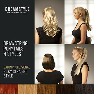 Clip-in-Ponytail-hair-extensions-pieces-Premium-Qulity-4-Styles-17-colours