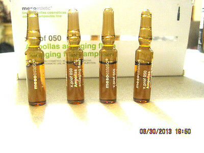 MESOESTETIC ANTIAGING FLASH AMPOULES ..X 4 Immediate Skin- Tensing Effect With C