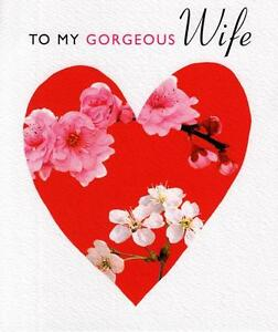 To My Gorgeous Wife Valentines Card Quality Valentine S Day Greeting