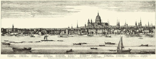 Old Fleet Ditch to St Michael/'s Bassingshaw London Panorama Print 1749
