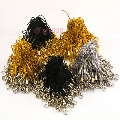 20Pcs Mobile Cell Phone Strap Thread Cord With Gold,Silver Lobster Clasp P1010