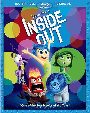 Inside Out Blu Ray Dvd 2015 3 Disc Set Includes Digital Copy For Sale Online Ebay