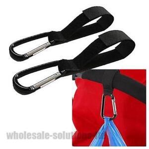 2x-Universal-Buggy-Mummy-Clips-Pram-Pushchair-Shopping-Bag-Hook-Carabiner-Clip