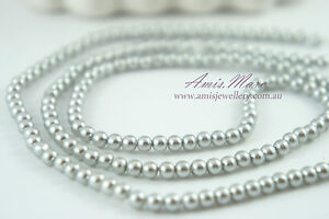 180pcs-Beads-4mm-Light-Grey-Silver-Color-Imitation-Acrylic-Round-Pearl-Spacer