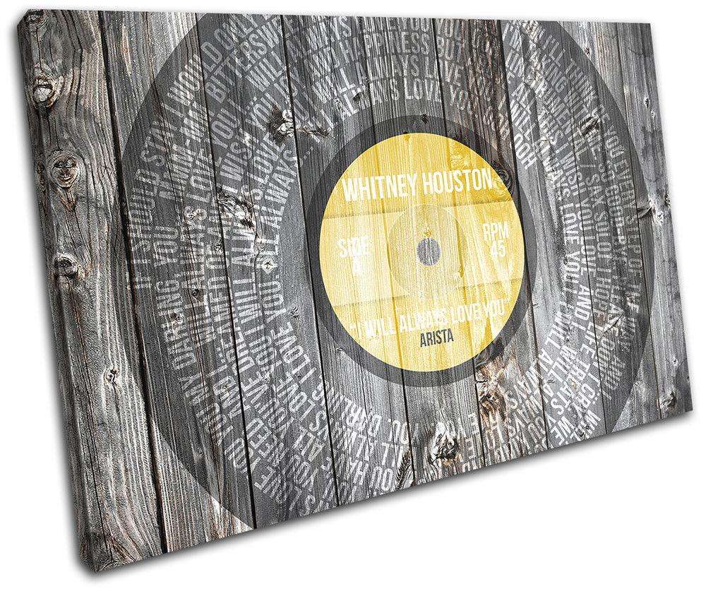 Whitney Houston Love Lyrics Vinyl Musical SINGLE TELA TELA TELA parete arte foto stampa f87786