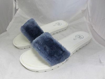 Mister 'n' Miss Egeo deslizadores de piel azul UK6 EU39 JS12 06