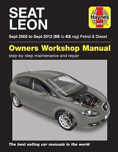 seat leon sept 05 sept 12 55 to 62 haynes repair manual 6408 rh ebay co uk 2018 Seat Leon workshop manual seat leon mk2
