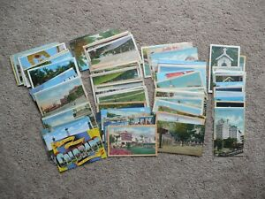 Vintage-Linen-Post-Card-Lot-of-105