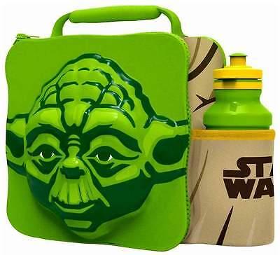 3D Yoda Lunch Bag Thermal Box & Drink Bottle School Set Official Star Wars 59758