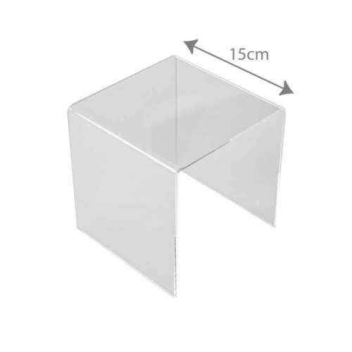 PERSPEX®//Acrylic 15cm three sided stand-clear Retail Display//Gift Shop//Museum