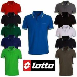 Lotto-Polo-Logo-Life-039-s-L73-PQ-Tanti-Colori-100-Cotone-Uomo-T-Shirt-Piquet-Sport