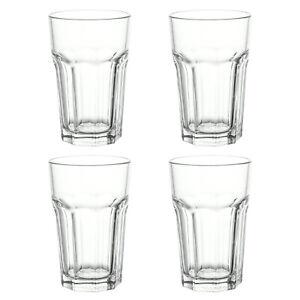 4x nuevo Ikea Pokal Vidrio Templado Vidrio Transparente Bebidas Fría & Caliente Congelador 35cl