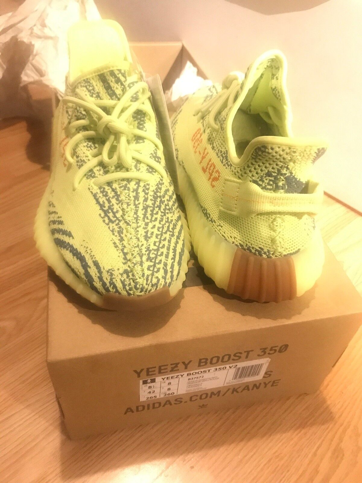 Adidas Yeezy Boost 350 V2 Semi Frozen Yellow Yebra