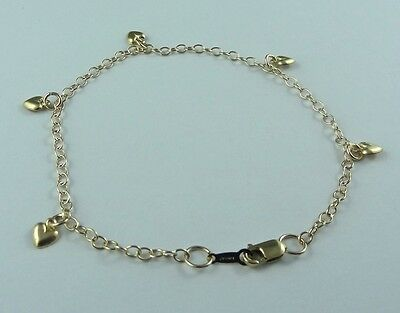 MADE IN USA 14k Gold Filled STAMPED Chain Gold Heart Bracelet