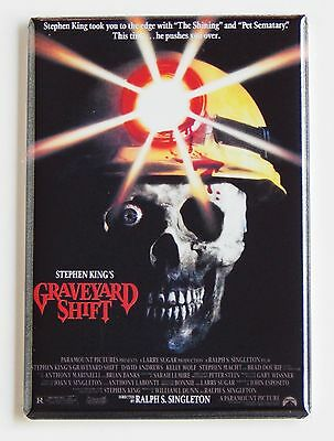 Graveyard Shift FRIDGE MAGNET (2.5 x 3.5 inches) movie poster stephen king
