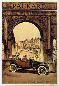 3771 Packard Automobile Poster Ad Vintage Art Decor Car Shop