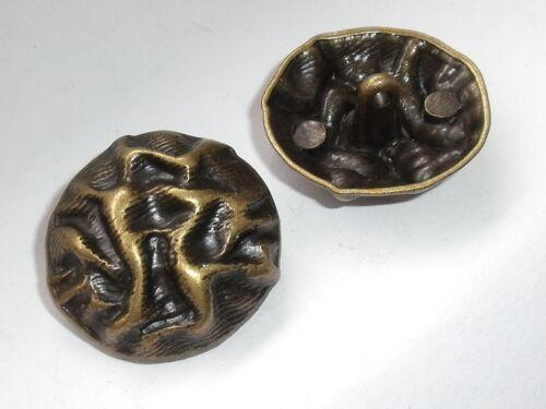 6 Stück Metallknöpfe Knopf Ösenknopf  25 mm altmessing NEUWARE rostfrei #960#