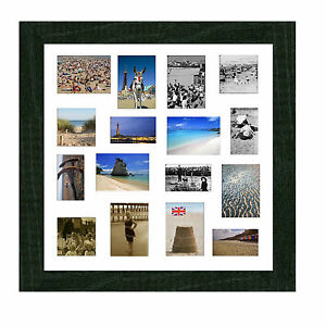 Large Multi Aperture Mount Pictureprint Frame In Blackwhitepine