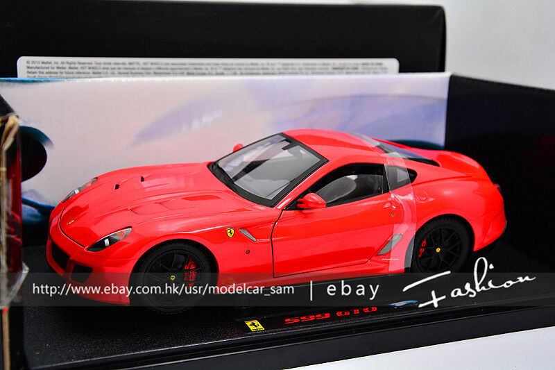 Hot wheels 1 18 ELITE ferrari 599 GTO rosso