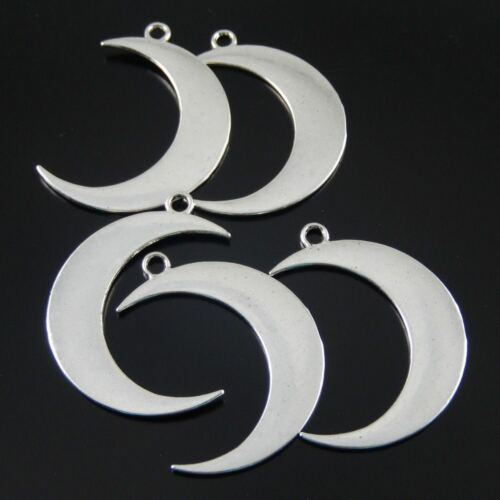 16pcs 39339 Vintage Silver Crescent Moon Shaped Pendant Charms Jewelry Accessory
