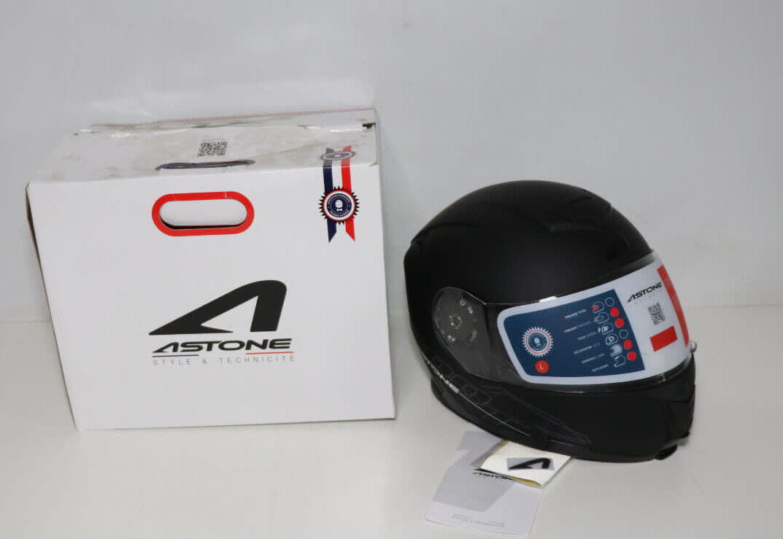 Astone Helmets Klapphelm Motorradhelm Rollerhelm, Matt Schwarz, L