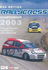 BRITISH RALLYCROSS REVIEW 2003 - DVD - REGION 2 UK