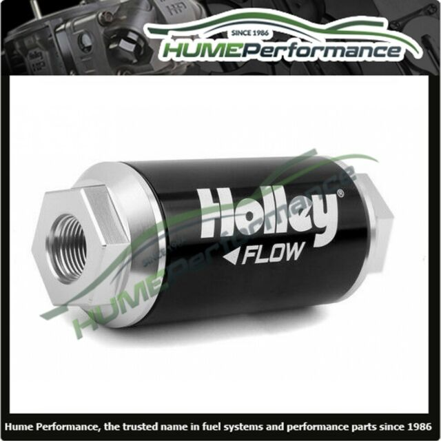 HOLLEY 162-570 BILLET FUEL FILTER RACE DRAG 260 GPH (-12 0-RING) 10 MICRON