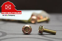 (100) M6-1.0x16 Grade 8.8 Metric Hex Flange Screws Flange Bolts