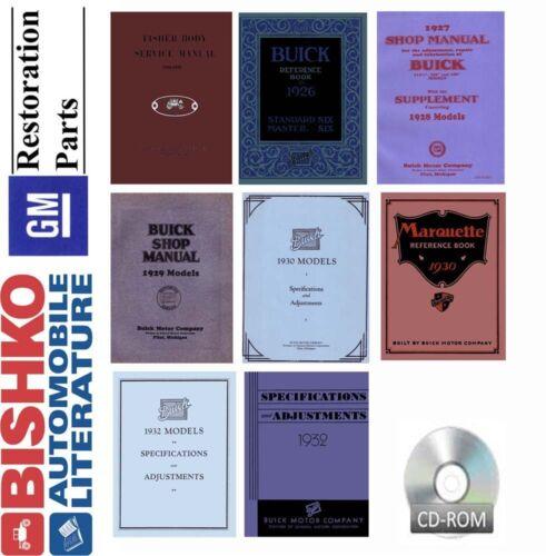 1926-1932 1928 1929 1930 1931 Buick Shop Service Repair Manual CD ...