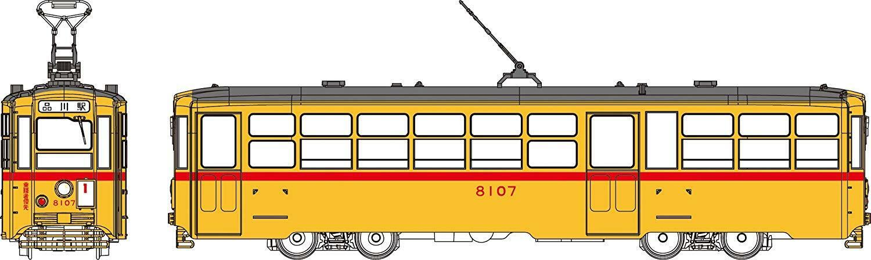 Tranvía Tranvía TW-HO8107 Tokyo Metropolitan tipo 8000 (No.8107) (escala Ho)