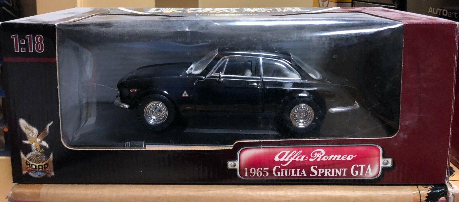 1965 ALFA ROMEO GIULIA SPRINT GTA Coupé Noir 1 18 par Yat Ming NEUF en Boîte Ancienne