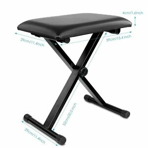 Piano-Bench-Stool-3-Position-Height-Adjustment-Keyboard-Bench-with-X-style-Iron