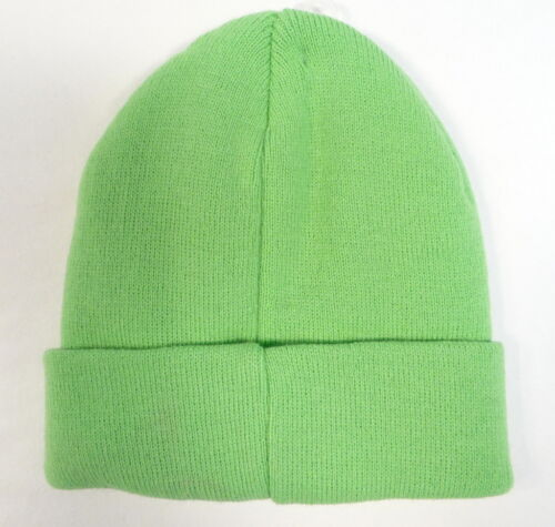 Puma Cat Logo Green Cuff Knit Beanie Skull Cap Youth Boys 8-20 NWT