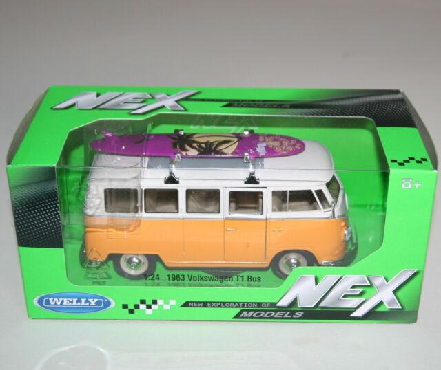 Welly - 1963 VW Volkswagen T1 Bus - Die Cast Model Scale 1:24