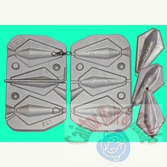 Alata Barrel Muffa Per 3 Porta Tutto 100 Grammi,1 X Girevole,1 X Inline 1 X Loop