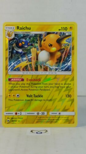 Raichu 41//147 S/&M Burning Shadows Holo Reverse  Mint//NM   Pokemon