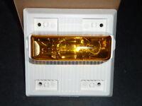 Cooper Wheelock Mta-24mcch-nw Amber Strobe Fire Emergency Alarm Multitone