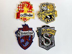 Harry potter patch gryffindor house crest embroidered
