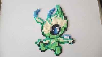 Celebi Pokemon Légendaire Perler Beadspixel Art Ebay