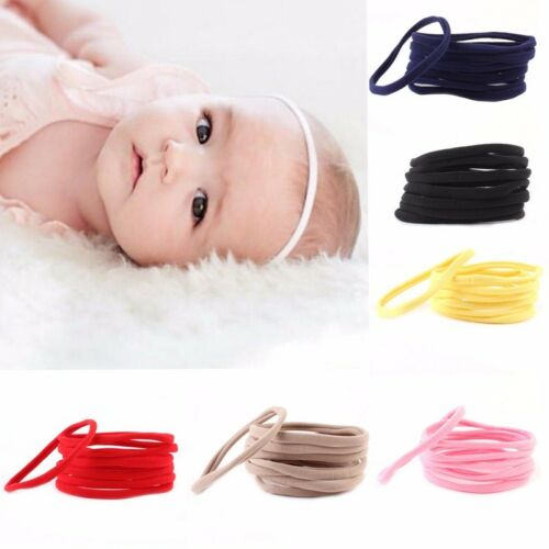 10Pcs Kids Girl Baby Headband Toddler Elastic Hair Band Accessories Headwear DIY