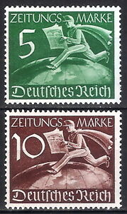 DR-Nazi-3rd-Reich-Rare-WWII-Stamp-Hitler-039-s-News-Service-Stamp-Postman-over-World