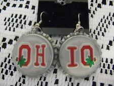 """1"""" Bottle Cap Image Earrings ~ Handcrafted ~ **Gift Idea ~ Buckeyes"""