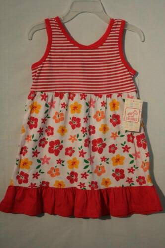 NEW Toddler Summer Girls Sleeveless Dress 2T Party Outfit Striped Floral Spring