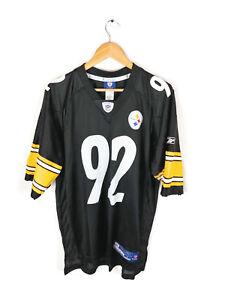new product 56d33 d5f6b Details about Pittsburgh Steeler James Harrison Jersey Sz L #92 SuperBowl  XLIII Mesh Football