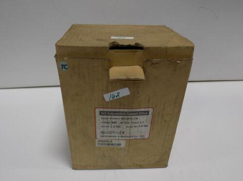 TECO N3  ADJUSTABLE SPEED VFD DRIVE CONTROL  N3-2P5-CS NIB *PZB*