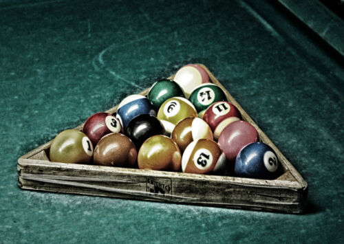 A0 A1 A2 A3 A4 Pool Billiards Snooker Table Balls Large Poster Wall Art Print